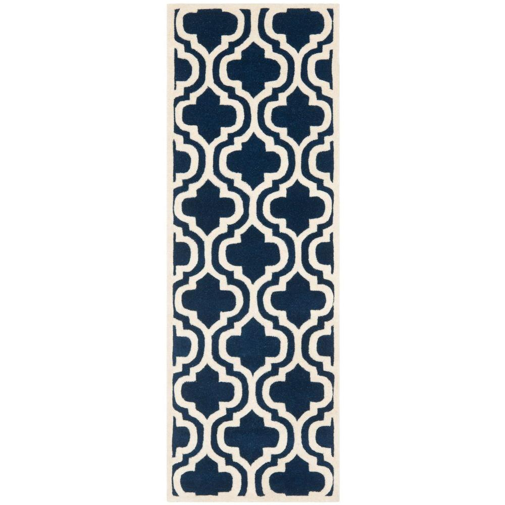 Chatham Dark Blue/Ivory 2 ft. 3 in. x 5 ft. Runner