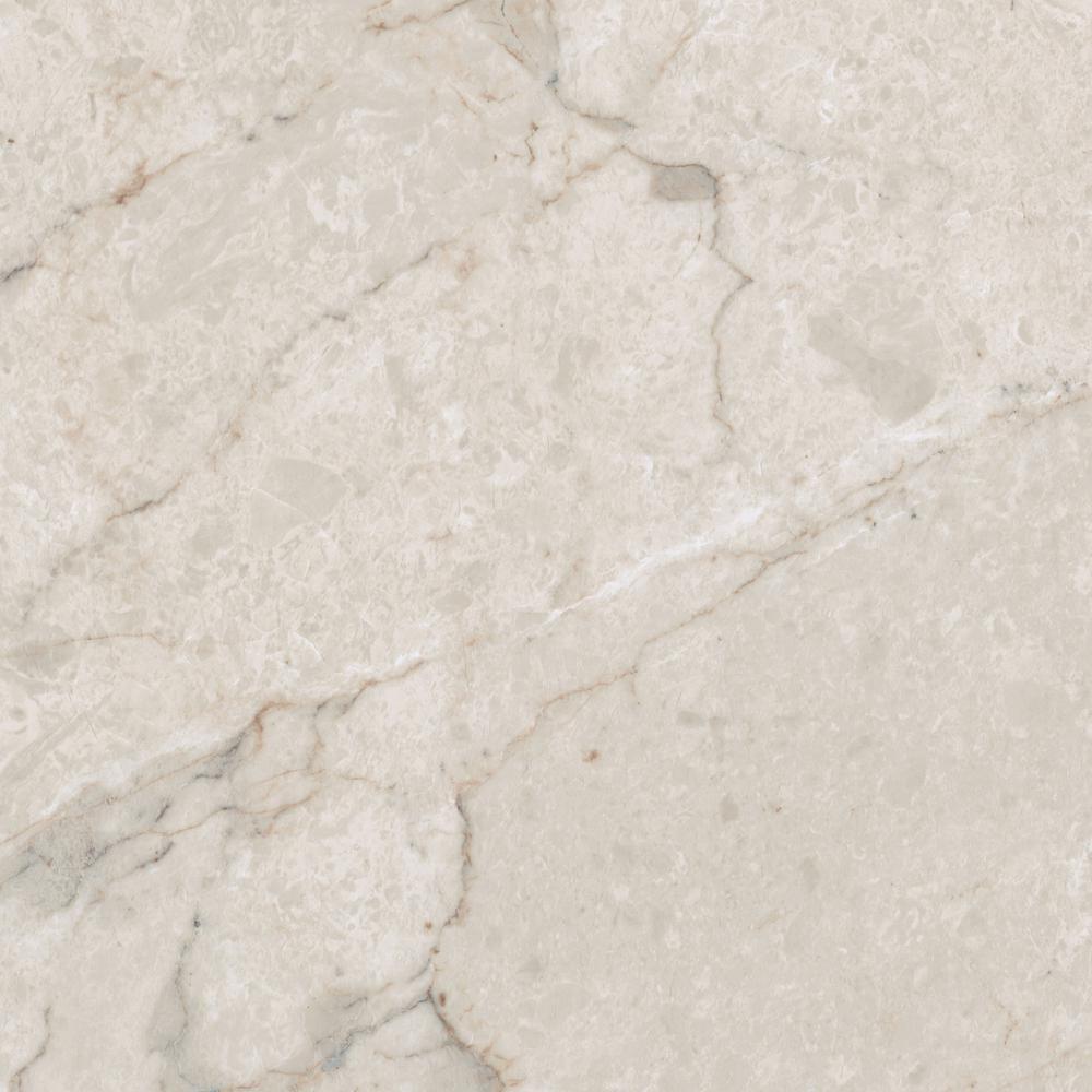 TrafficMASTER Take Home Sample - Allure Ultra Tile Carrara White Resilient Vinyl Flooring - 4 in. x 4 in.