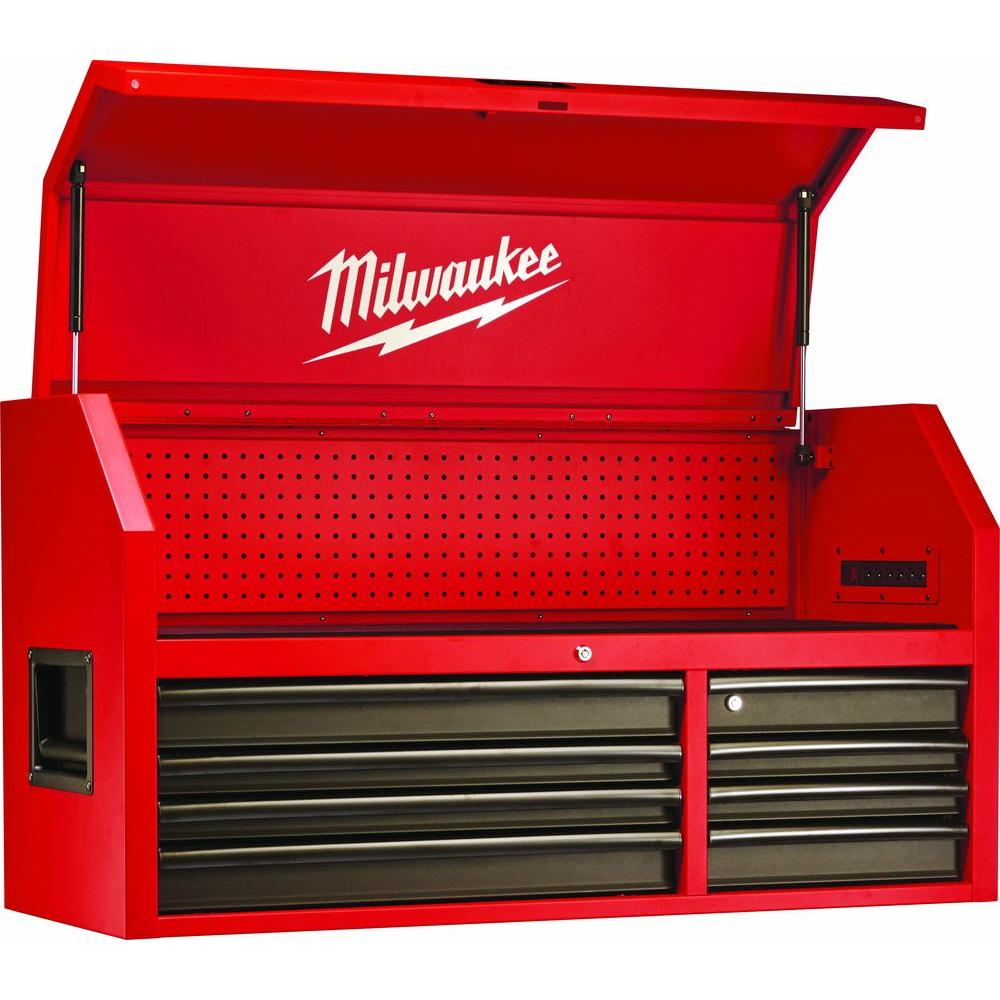 Milwaukee 46 In 8 Drawer Steel Storage Chest Red And Black