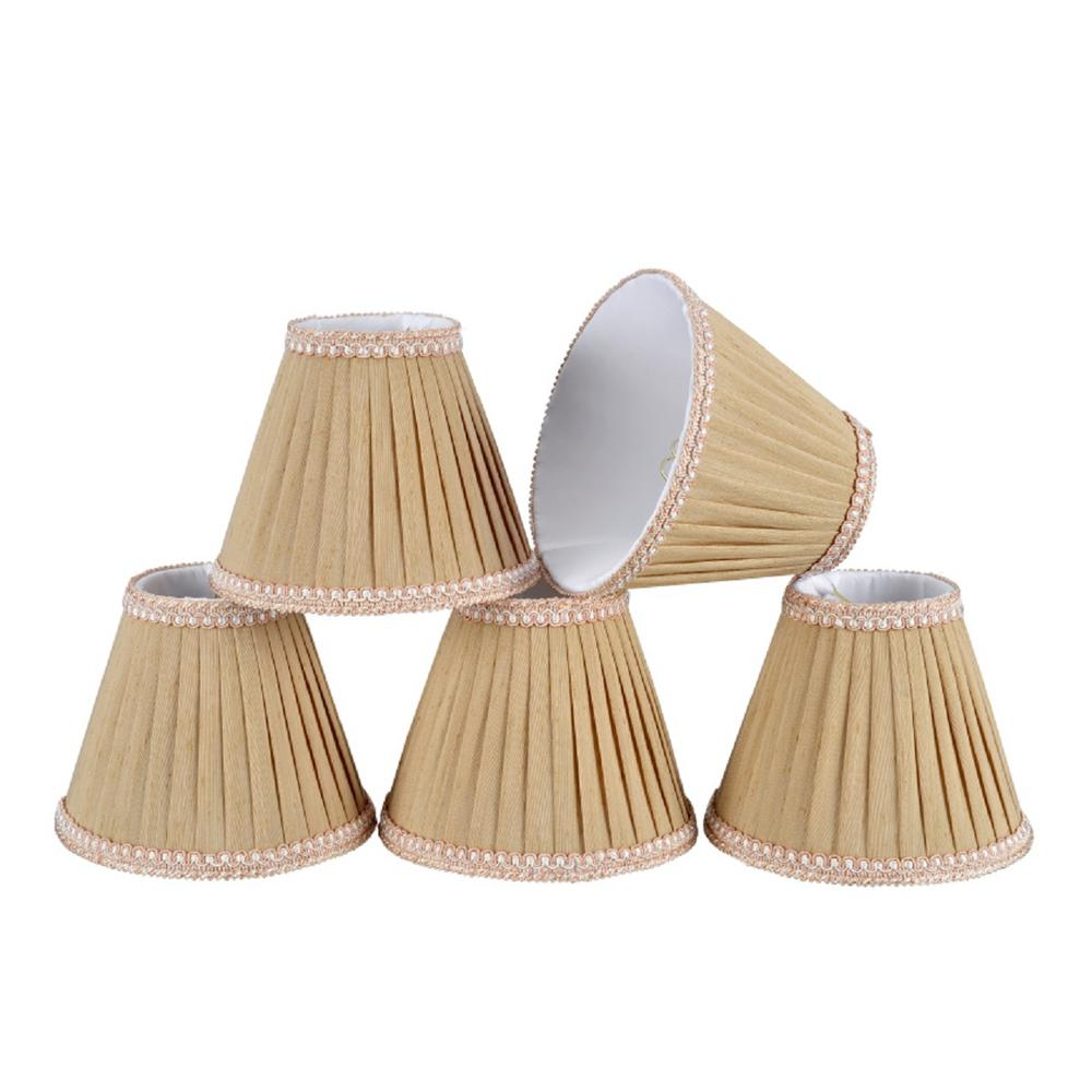 6 in. x 5 in. Creme Pleated Empire Lamp Shade (5-Pack)