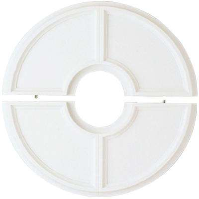 16 in. Split Design White Finish Ceiling Medallion