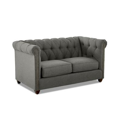 Keaton Tufted Loveseat in Graphite