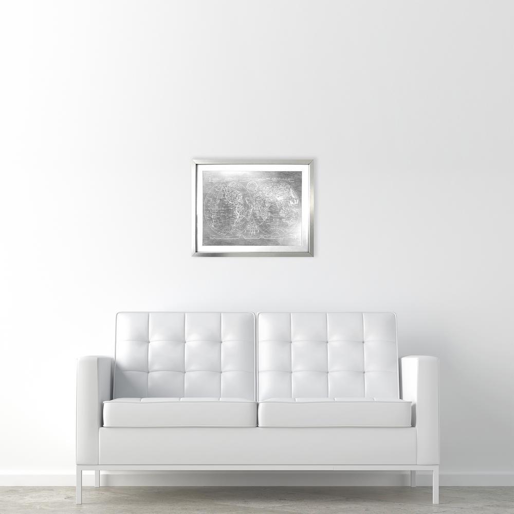 "20 in. x 16 in. ""Hemispheres Mapamundi"" by Wynwood Studio Framed Printed Wall Art"