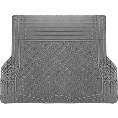 WeatherShield HD Gray Heavy Duty Rubber Trunk Cargo Liner Floor Mat Trim to Fit for Car/SUV/Van/Trucks