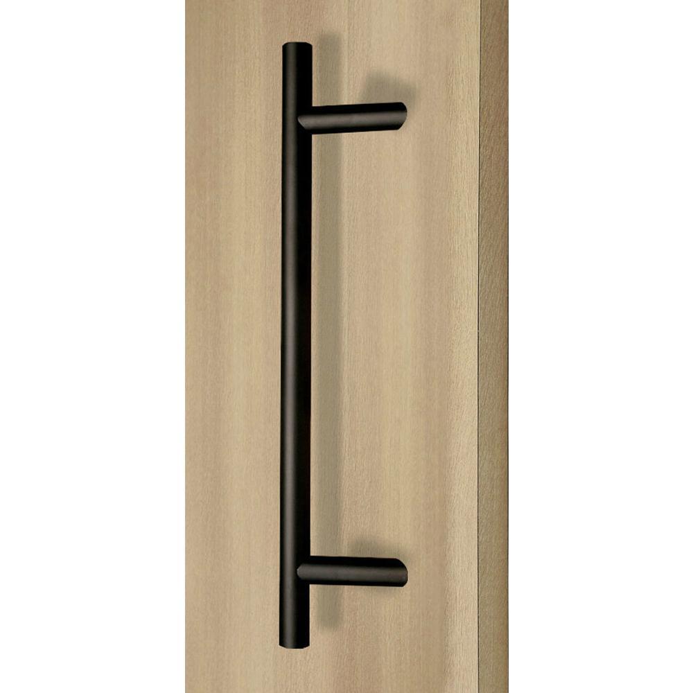 "Door Pull Handles 48/"" Entry entrance door Matte BLACK stainless steel Modern"