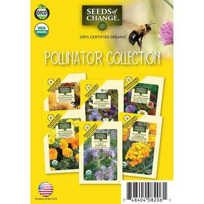 Organic Pollinator Flower Seeds Collection (6-Pack)