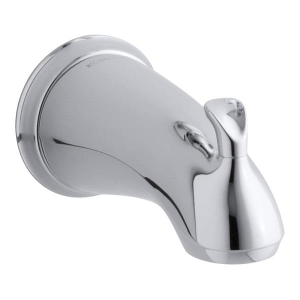 Forte Sculpted Diverter Bath Spout in Polished Chrome with NPT Connection