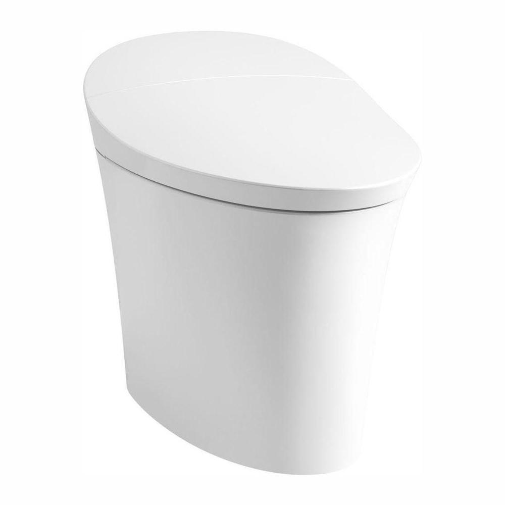 KOHLER Veil Intelligent Comfort Height 1-Piece 1.28 gallons per flush, Elongated Dual-Flush Toilet in White