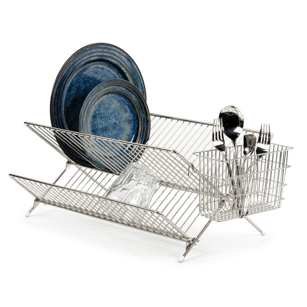 RSVP Endurance Folding Dish Rack, Silver