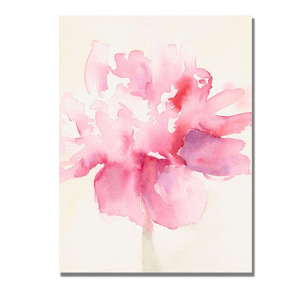 null 24 in. x 32 in. Pink Peony Canvas Art-DISCONTINUED