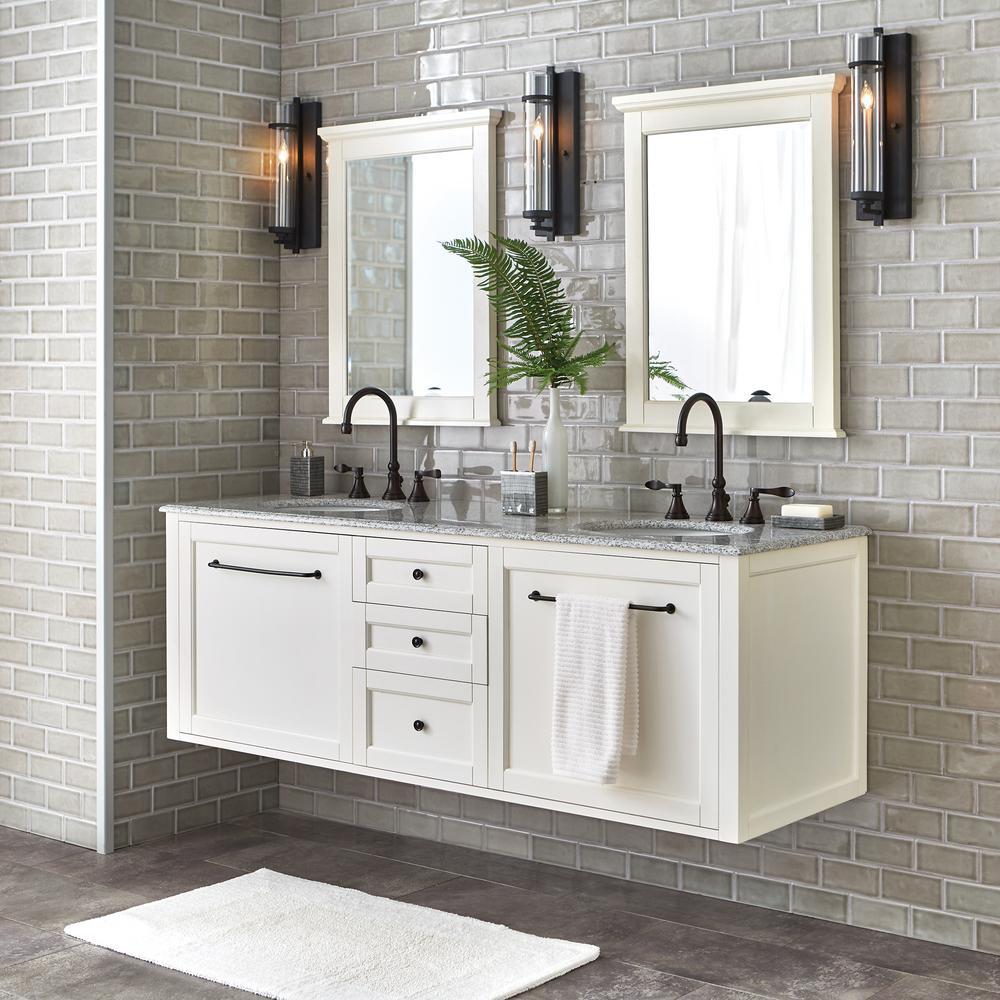 Hamilton Framed Single Wall Bathroom Birch Wood Cabinet ...