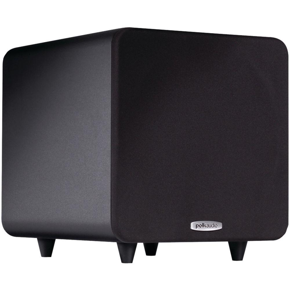Polk Audio 8 In Compact Powered Subwoofer Psw 111 The Home Depot Speakers