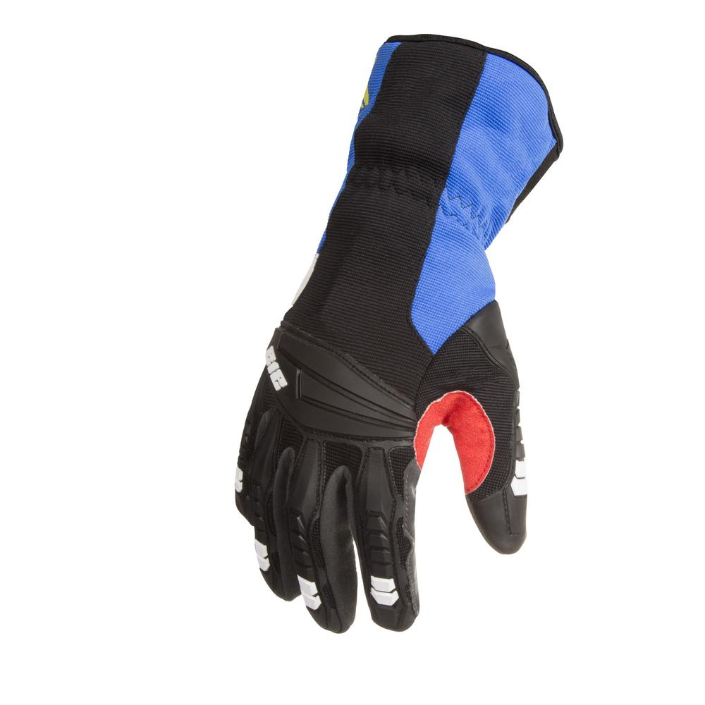 Cut Resistant Level 2 Impact Absorbent Winter Work Safety Gloves, Blue