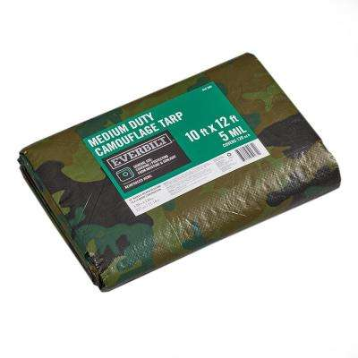 10 ft. x 12 ft. Camouflage General Purpose Tarp