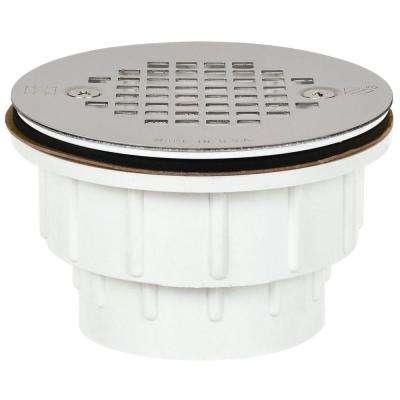2 in. PVC Shower Drain with Strainer