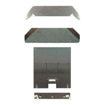 Dry Flush 9 in. x 13 in. Floor Mount Kit in Brushed Metal