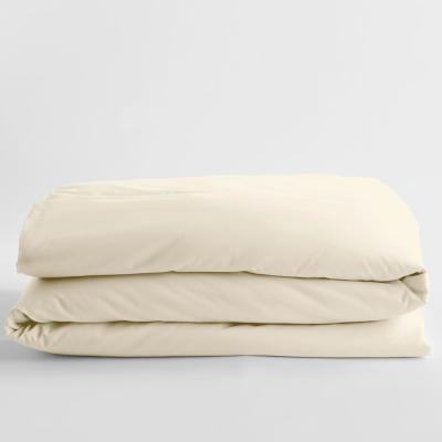Company Cotton Creme Solid 300-Thread Count Wrinkle-Free Sateen King Duvet Cover