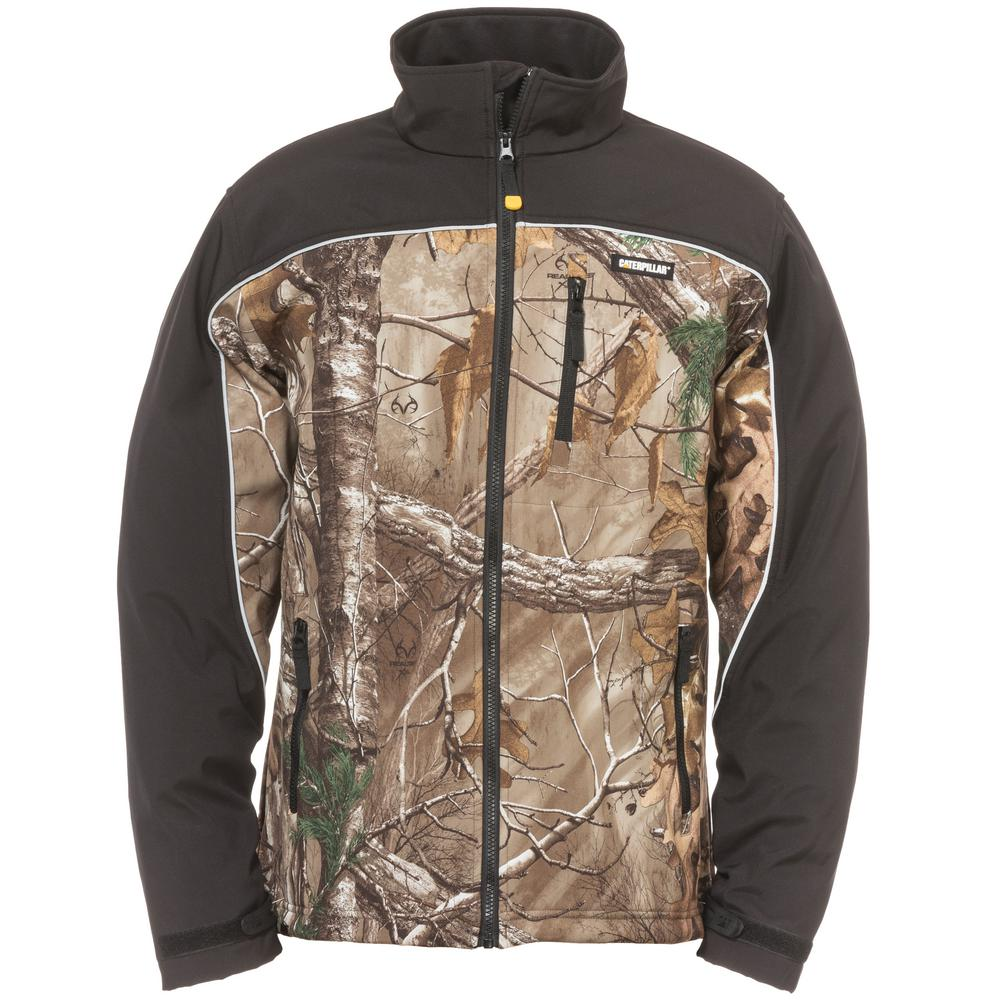 197a0239e4eea Caterpillar Soft Shell Men's Tall-X-Large Realtree Xtra Camo  Polyester/Spandex Water Resistant Jacket-W11440x-10520-TXL - The Home Depot