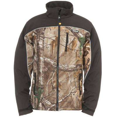 Soft Shell Men's 3X-Large Realtree Xtra Camo Polyester/Spandex Water Resistant Jacket
