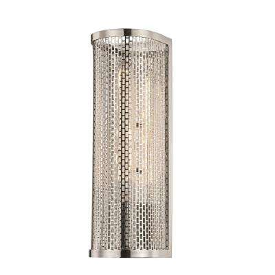 Britt 1-Light Polished Nickel Wall Sconce