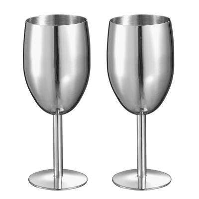 Jacqueline 8 oz. Stainless Steel Champagne Glass (Set of 2)