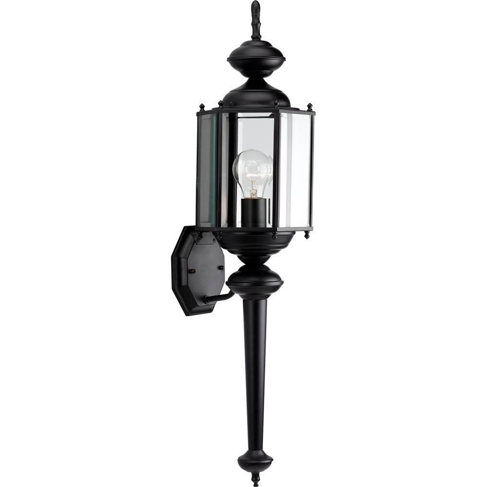 Black 3-Light Outdoor Wall Lantern