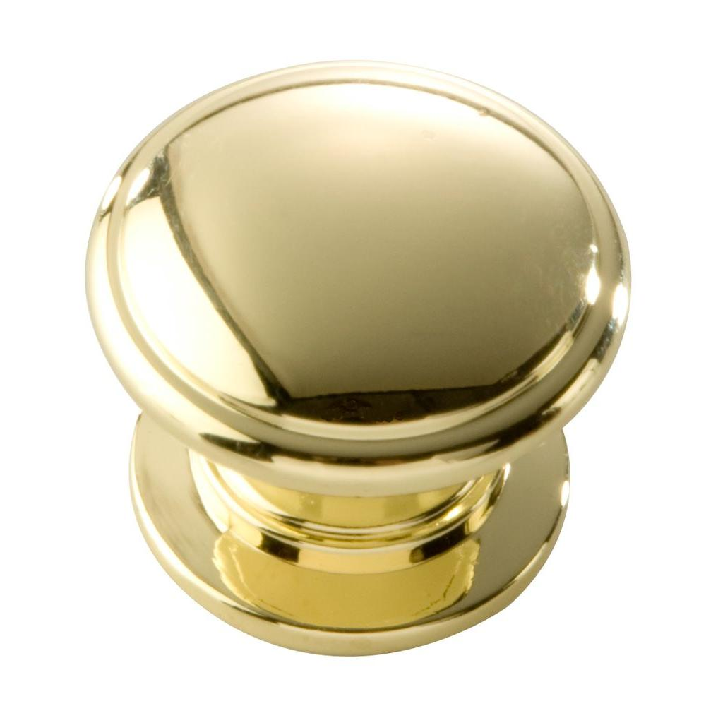 Williamsburg 1-1/4 in. Polished Brass Cabinet Knob