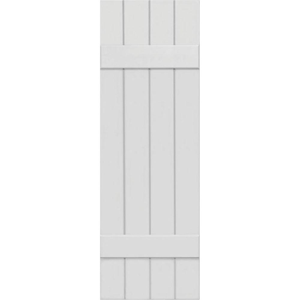 Ekena millwork 15 in x 66 in exterior composite wood - Composite board and batten exterior shutters ...