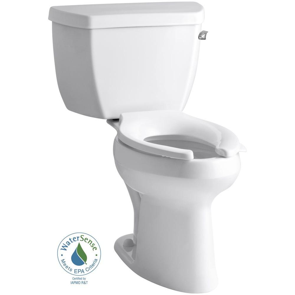 Highline 2-piece 1.0 GPF Single Flush Elongated Toilet in White