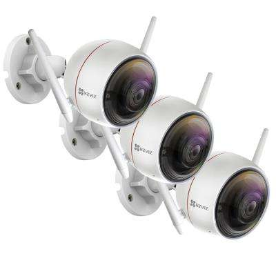 ezGuard C3W Wired 1080p Indoor/Outdoor Bullet Wi-Fi Full HD Security Camera (3-Pack)