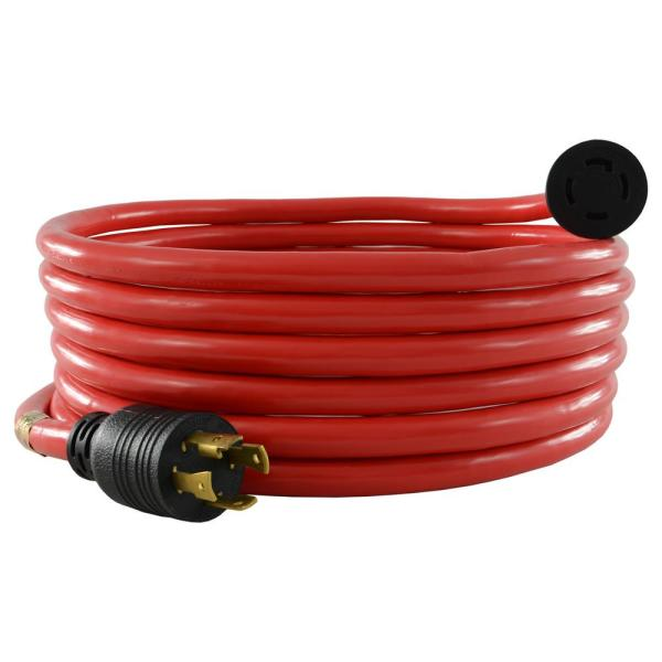 20 ft. 10/4 30 Amp 125/250-Volt 4-Prong L14-30 Transfer Switch/Generator Red Extension Cord