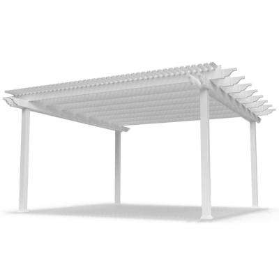 Modern Pergola-Kit Traditional 16 Ft. x 16 Ft. Freestanding Pergola with 5 In. Square Posts