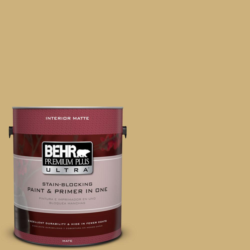 1 gal. #360F-4 Dry Sea Grass Matte Interior Paint and Primer
