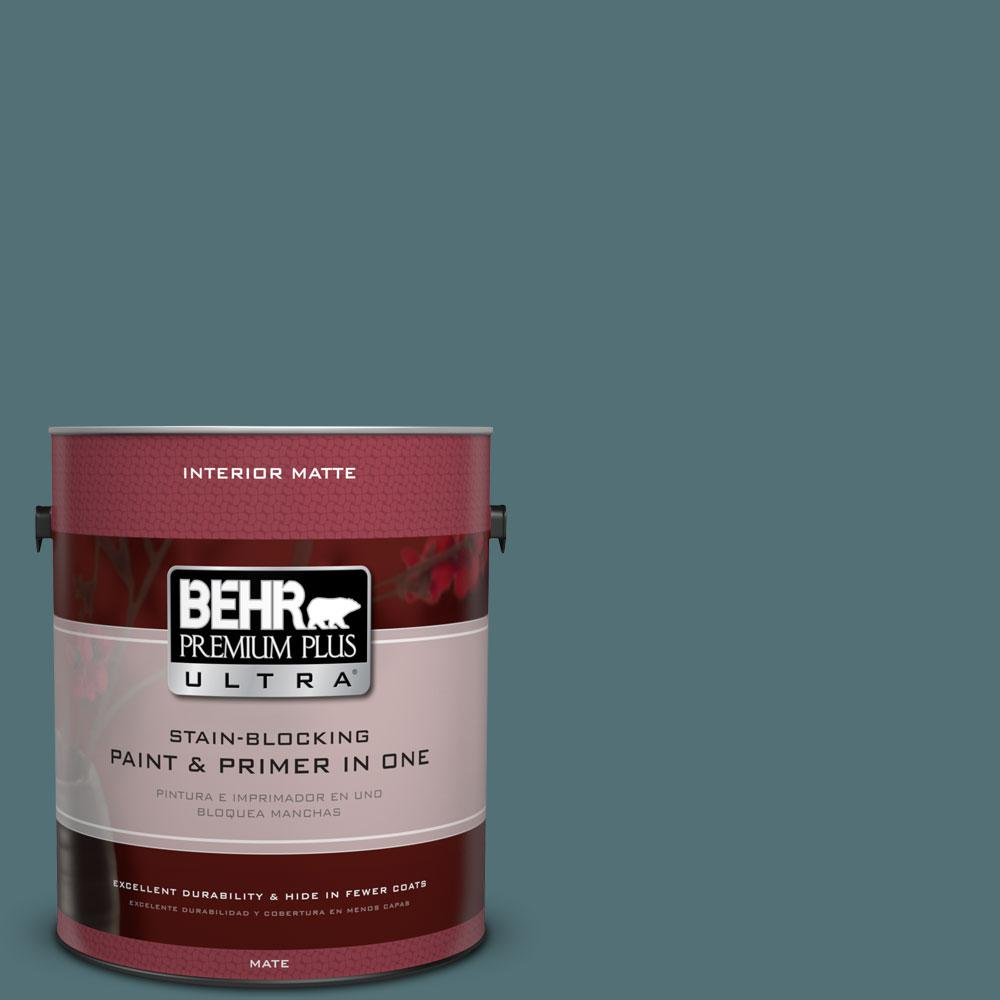 BEHR Premium Plus Ultra Home Decorators Collection 1 gal. #HDC-CL-22 Sophisticated Teal Flat/Matte Interior Paint