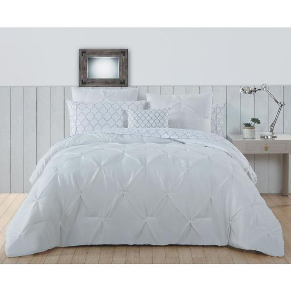 Avondale Manor Bradford 6-Piece White Twin Bed in a Bag BDF6BBTWINGHWH