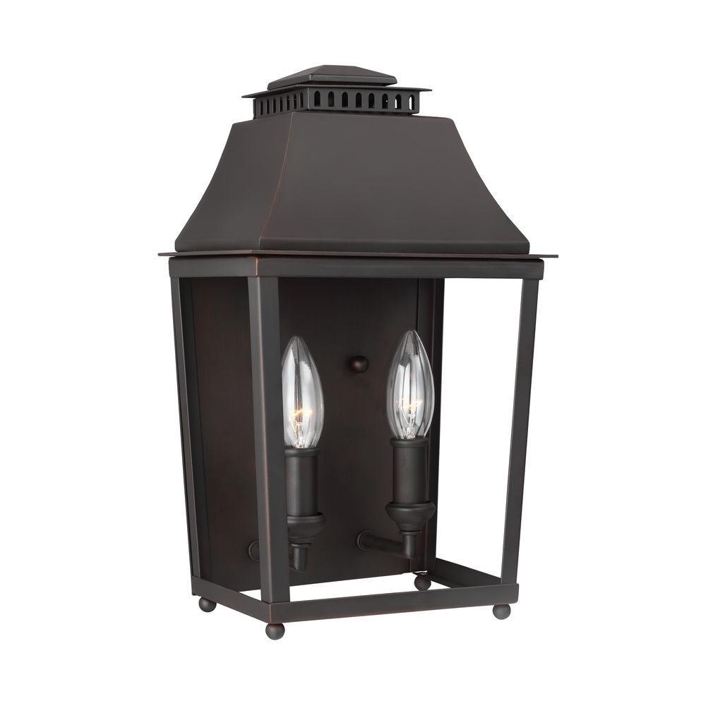 Galloway 2-Light Dark Antique Copper/Antique Copper Wall Bath Light