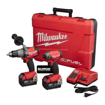 M18 FUEL 18-Volt Lithium-Ion Cordless Brushless  Surge Impact And Hammer Drill Combo Kit