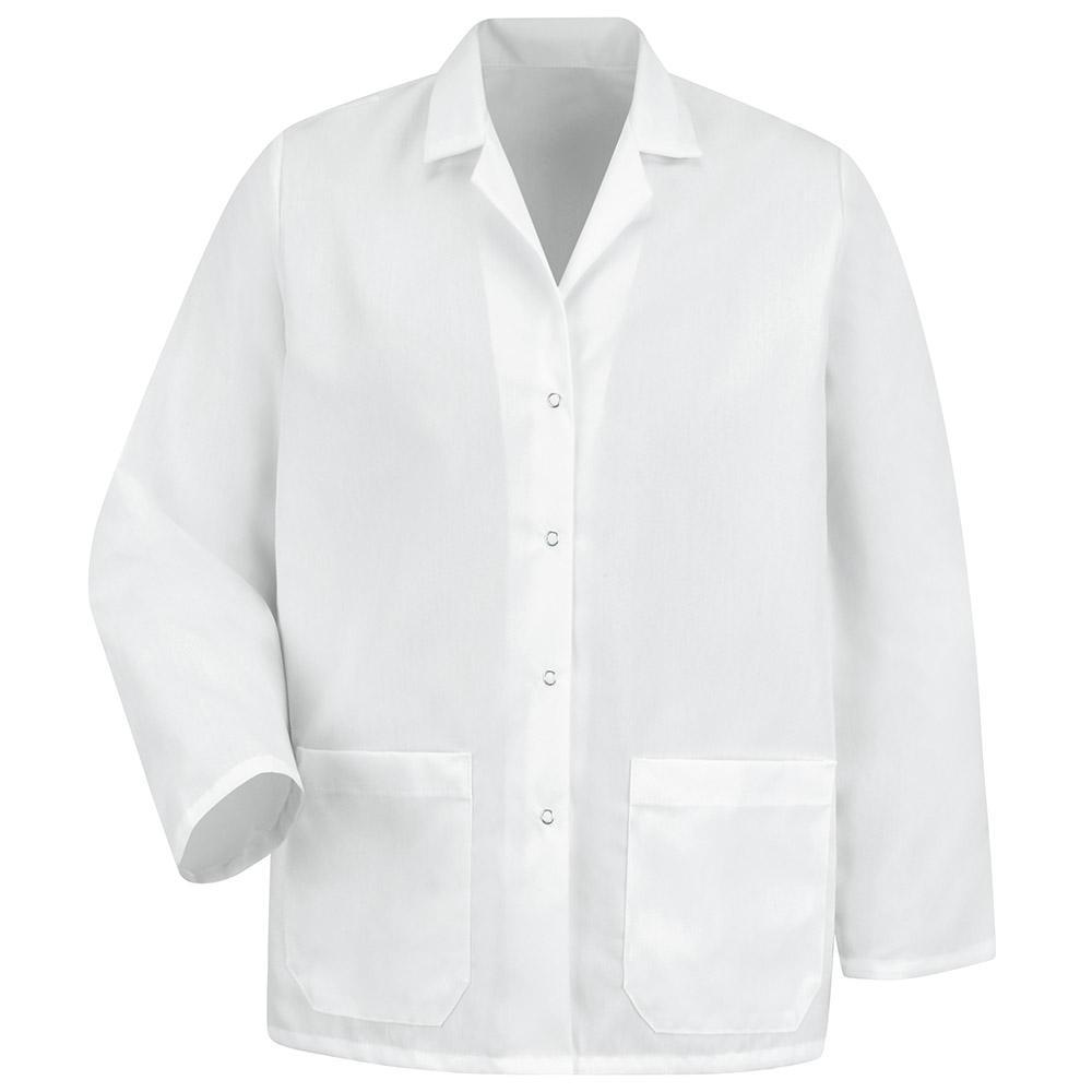 Women's Size XL White Specialized Lapel Counter Coat