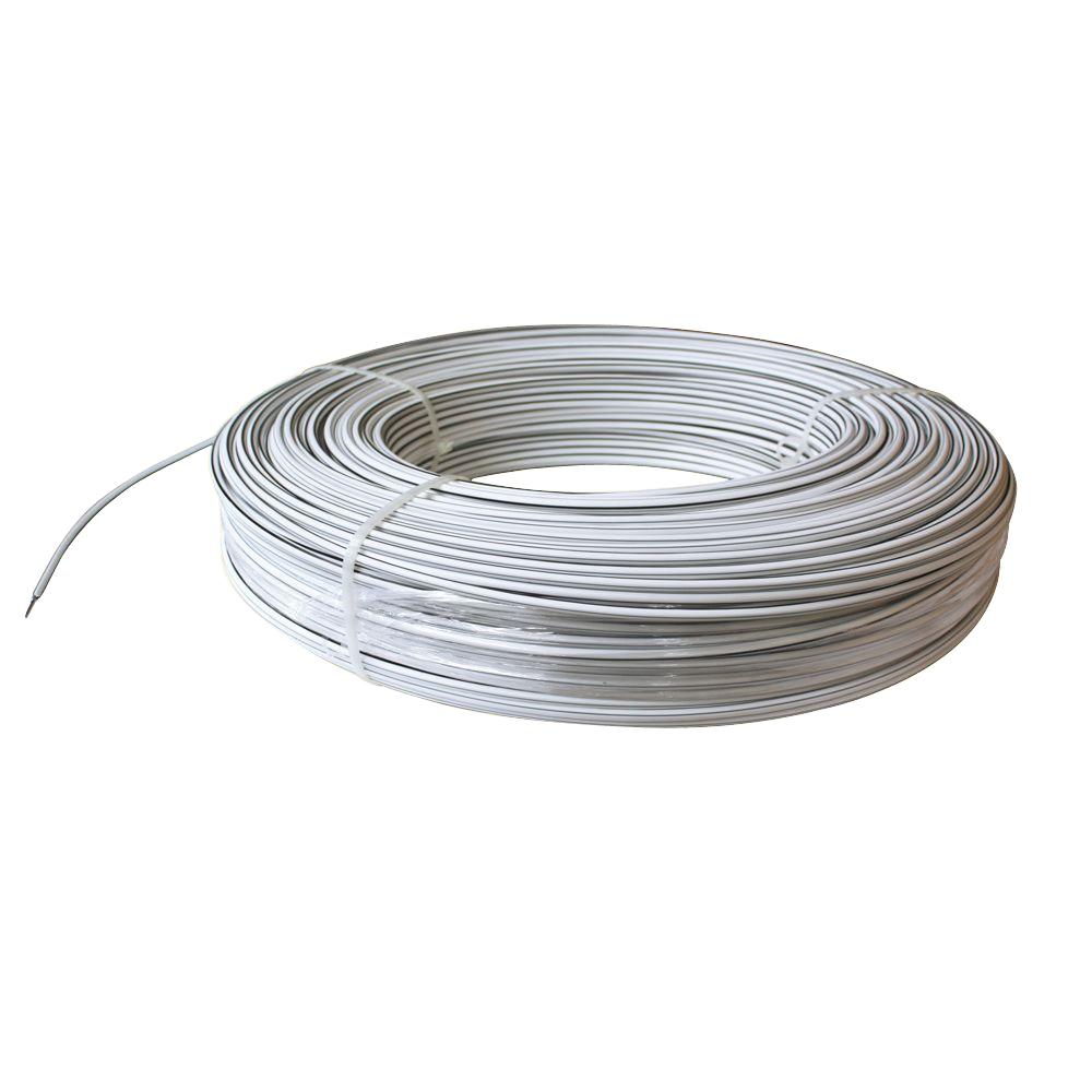 White Lightning 1320 Ft 12 5 Gauge Safety Coated High Tensile Electric Fence Wire