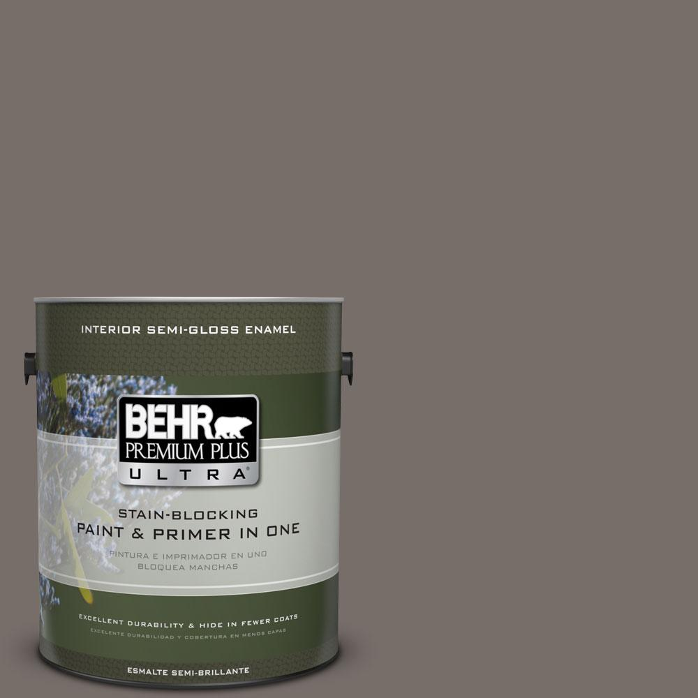 BEHR Premium Plus Ultra 1-gal. #bnc-37 Gray Owl Semi-Gloss Enamel Interior Paint