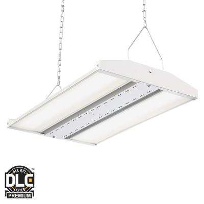 White Integrated Led Backlit High Bay Hanging Light With 18 000