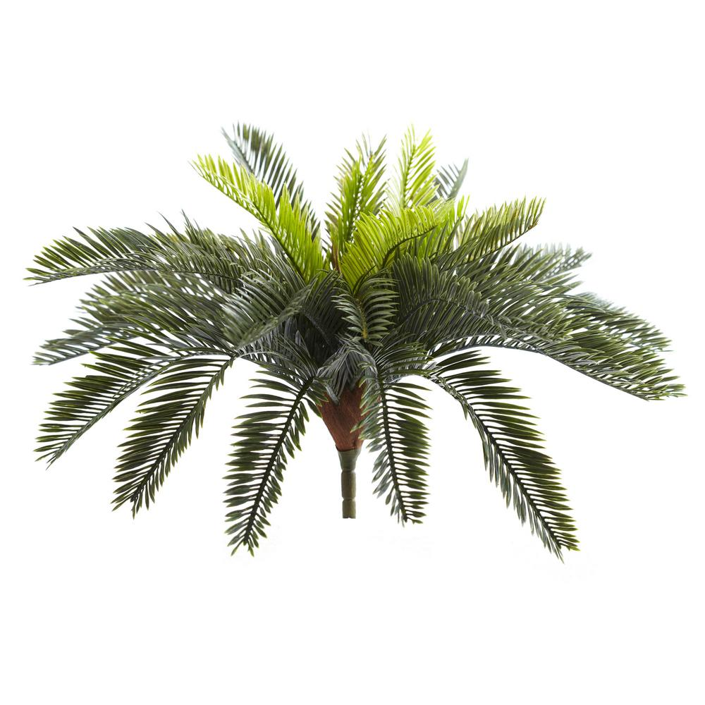 Indoor 13 in. Cycas Artificial Plant (Set of 2)