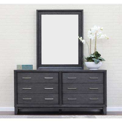 Chelsea Squared Gray Wash Wall Dresser Mirror