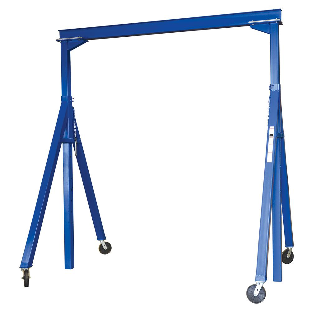 15 ft. x 7 ft. 2000 lb. Adjustable Height Steel Gantry