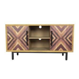 Shelly Brown Wood Cabinet with a Drawer and Door