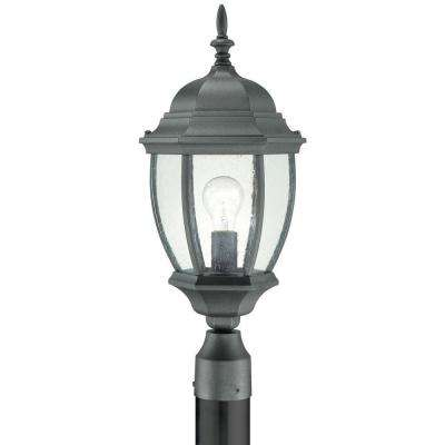 Covington 1-Light Outdoor Black Post Lantern