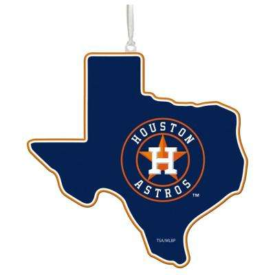 Houston Astros 5 in. MLB Team State Christmas Ornament