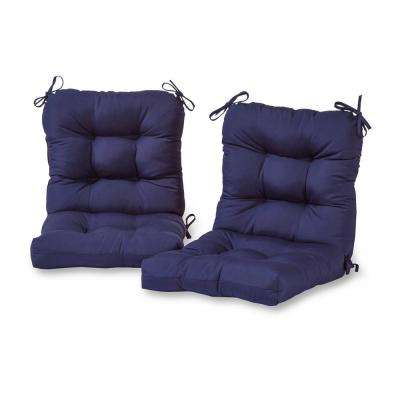 Navy Blue Outdoor Chair Cushions Outdoor Cushions The Home Depot