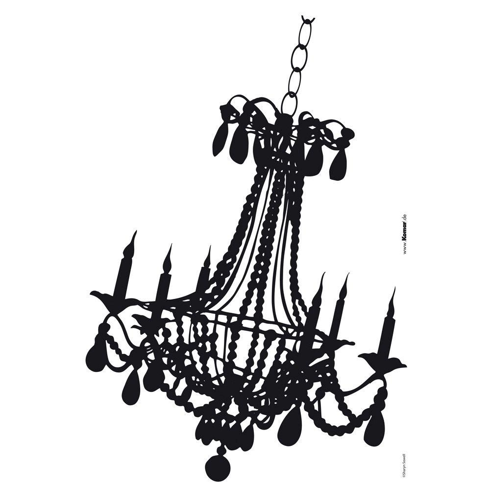 Freestyle 19 in. x 27 in. Chandelier Wall Decal