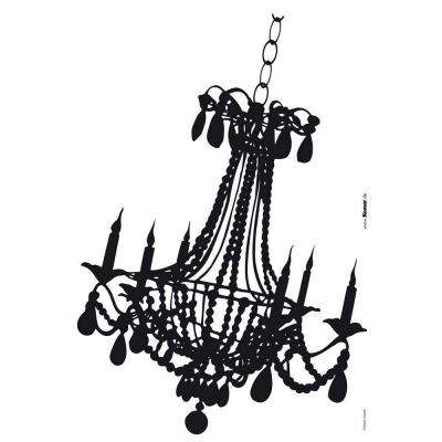 19 in. x 27 in. Chandelier Wall Decal